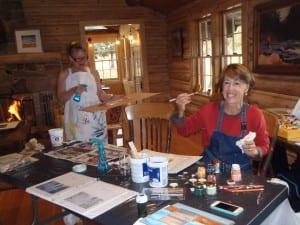 Maureen and Susan having fun.